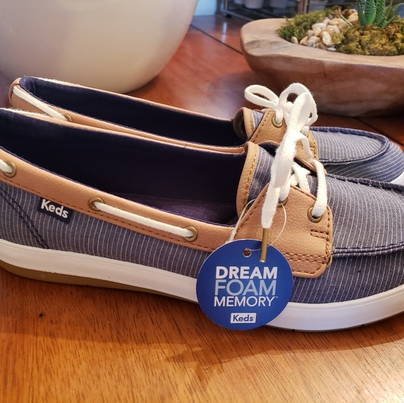 Keds Womens Charter Chambray Boat Shoes